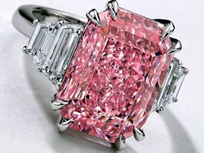 Sotheby's fancy pink diamond ring