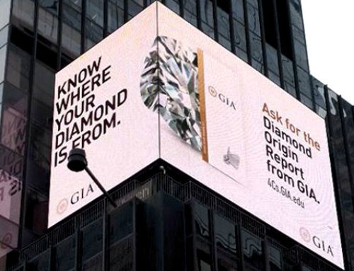 GIA adverteert herkomstrapporten op Times Square